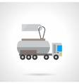Liquid transportation cost flat color icon vector image