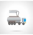 Liquid transportation cost flat color icon vector image vector image