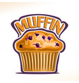 logo for blueberry muffin vector image