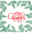 merry christmas calligraphy lettering text and and vector image vector image