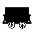 mine trolley vector image
