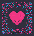 modern and stylish greeting card for valentines vector image