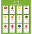 Modern calendar for new 2016 year with funny vector image vector image