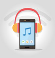 music app for smartphone vector image