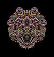 neckline - ornamental ethnic design vector image vector image