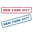New York City Rubber Stamps vector image vector image