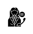 office manager black icon sign on isolated vector image vector image