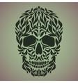 ornamental art a skull vector image