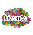 partner dance kizomba vector image vector image