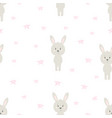 pattern cartoon hare vector image