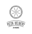 pizza icon pizza delivery vector image vector image