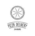 pizza icon pizza delivery vector image