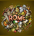 rome hand drawn cartoon doodles vector image