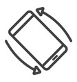 rotate smartphone line icon web and mobile vector image