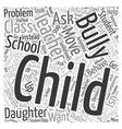 School Bully Word Cloud Concept vector image vector image
