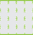 seamless background with christmas trees in a wint vector image