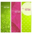 Set colorful 3 banners with abstract trees and vector image vector image