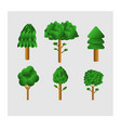 set design variety trees vector image vector image