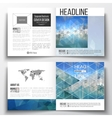 Set of square design brochure template Abstract vector image vector image