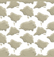 smoke seamless pattern clouds fog or steam vector image