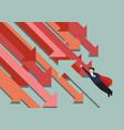 super man flying against trend vector image