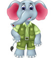 sweet elephant cartoon posing with smiling vector image vector image