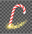sweet striped candy cane vector image vector image