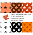 thanksgiving day in canada set of backgrounds of vector image