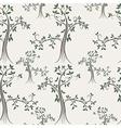 tree seamless pattern vector image
