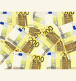 two hundred euro background vector image vector image