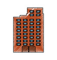 urban edifice tower vector image vector image