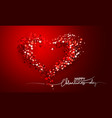 valentines day card decorative red background vector image vector image