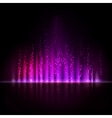 Violet aurora light Abstract backgrounds vector image