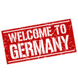 welcome to germany stamp vector image vector image