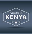 Welcome to kenya hexagonal white vintage label vector image