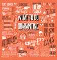 what to do in quarantine hand lettering vector image