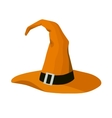 witch hat stylized cartoon vector image
