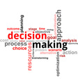word cloud decision making vector image vector image