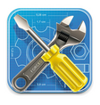 Wrench and screwdriver icon vector | Price: 3 Credits (USD $3)