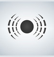 radio waves logo icon antenna vector image