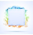 Square border with color sparks vector image