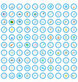 100 research icons set cartoon style vector image vector image