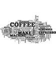 a coffee perfect business part text word vector image vector image