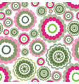 abstract geometric pattern floral circle flower vector image