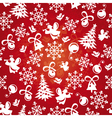 abstract seamless red christmas background vector image