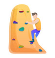 alpinist wall climbing icon cartoon style vector image vector image