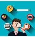 Analitycs search icon vector image