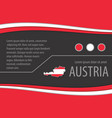 background with austrian colors vector image vector image