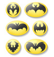 bat buttons set vector image vector image