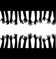 black hands silhouettes vector image